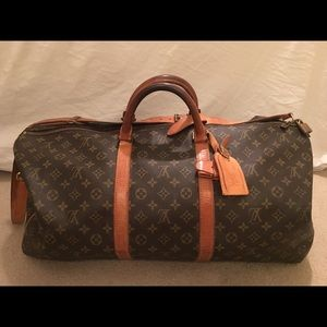 Vintage 1986 Louis Vuitton Keepall Bandouliere 60